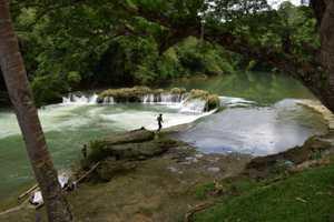 Wasserfall Philippinen Bohol Insel