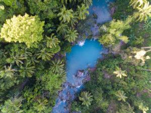 Siquijor Cambugahay Falls aus der Luft