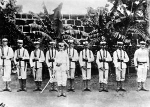 Amerikanische Soldaten in Cavite 1898