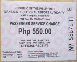 Flughafen Philippinen Gebühr Ticket NAIA