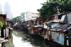 Slum in Manila - Philippinen Sicherheit