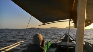 Bootsfahrt zu Backpacking Philippinen Tour Gigantes Islands