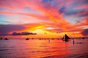 Boracay Philippinen Sonnenuntergang