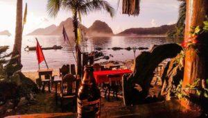 El Nido Las Cabanas Sonnenuntergang