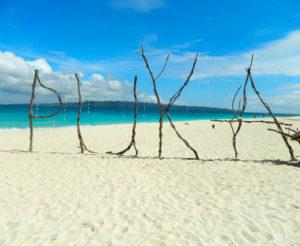 Puka Beach Boracay philippinen