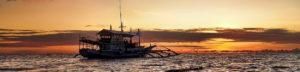 philippinen tauchen sonnenuntergang
