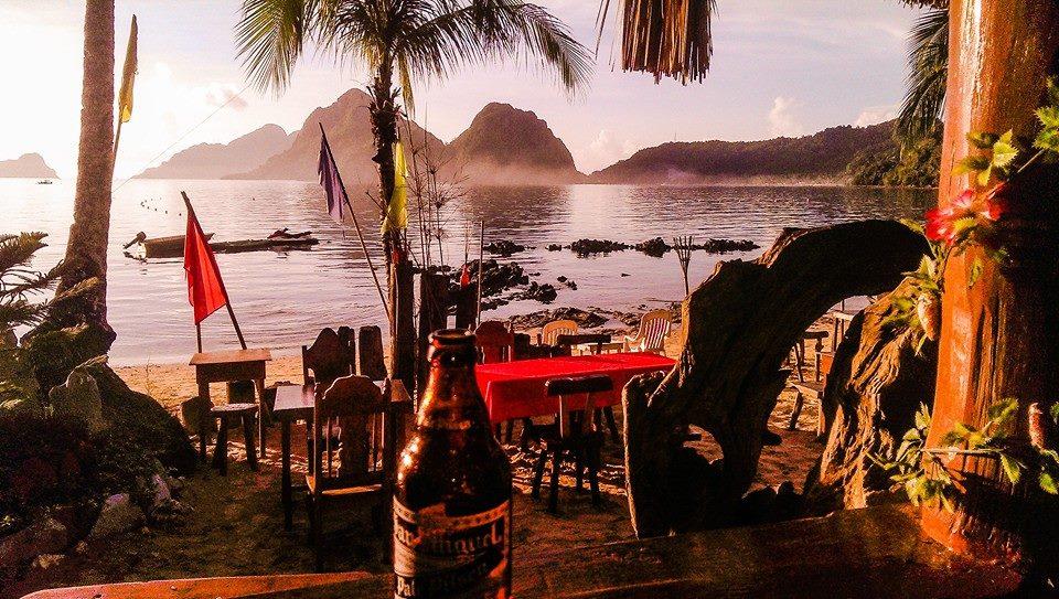 Las Cabanas El Nido Sonnenuntergang